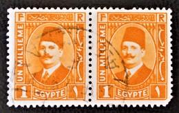 ROYAUME - ROI FOUAD 1ER 1923/24 - PAIRE OBLITEREE - YT 82 - MI 82 - Egypt