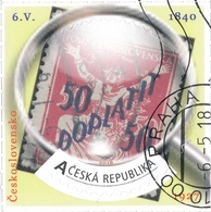 Czech Rep. / My Own Stamps (2018) 0795 (o): The World Of Philately - Postage Stamps Printing Errors: Czechoslovakia 1927 - Timbres Sur Timbres
