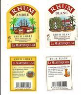 Etiquettes  20cl Flasques RHUM La Martiniquaise Blanc Et Ambré - Traditionnel Des Départements Français. D'Outre-mer - - Rhum