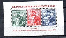 Allemagne Bizone / Feuillet N 1 / Export Messe 1949   Hanovre / NEUF** - American/British Zone