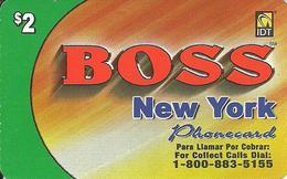 IDT: Boss - New York 11.2006 - Vereinigte Staaten
