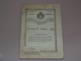 LIBRETTO POSTALE DELLE CASSE DI RISPARMIO POSTALI REGNO ITALIA DA TROFARELLO TORINO PIEMONTE - Documenti Storici