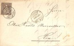 Lokale Briefvs  Luzern               1874 - 1862-1881 Sitted Helvetia (perforates)