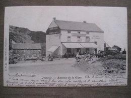 Cpa Jemelle (Rochefort) - Avenue De La Gare - Voitures De Louage - Poudres De Cock - D.V.D. 7886 Culot-Gossiaux 1902 - Rochefort