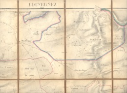 Très Ancienne Carte  Toilée 1:20.000 - Région Louvegnez ( Louveigné, Gomzée, Tilff, Hotchamps, Sprimont ,....(bay) - Topographical Maps