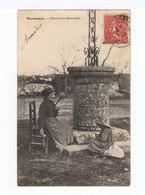 Marmande. Fileuse à La Quenouille. Avec Fillette. (2822) - Artisanat