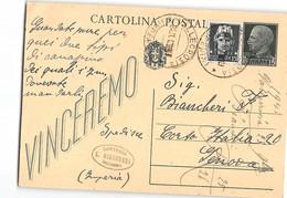AG1242 RSI REPUBBLICA SOCIALE SARTORIA BIANCHERI VALLECROSIA - 4. 1944-45 Repubblica Sociale