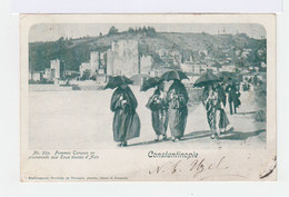Constantinople.Femmes Turques En Promenade Aux Eaux Douces D'Asie. Oblitération Constantinople. (2823) - Europe