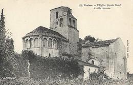 CARTE POSTALE ORIGINALE ANCIENNE : THAIMS L'EGLISE FACADE NORD CHARENTE MARITIME (17) - Andere Gemeenten