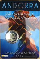 """Pièce Commémorative 2 Euro  Andorre  2018 Sous Blister """"Annversaire De La Constitution """" - Andorra"""