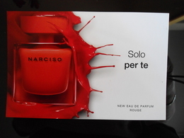 Narciso Rodriguez Rouge Parfum Carte Size Carte Postale - Modern (from 1961)