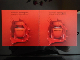 Narciso Rodriguez Rouge Parfum Double Card - Modern (from 1961)
