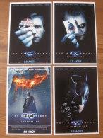 CINEMA - CARTES PROMO DE SORTIE DU FILM - BATMAN, THE DARK NIGHT LE CHEVALIER NOIR - LOT De 4 - Cartes Postales