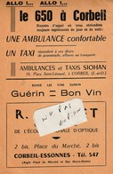 91 - CORBEIL ( France ) - Horaires S.N.C.F. Et Horaires  ( 27,5 Cm X 21,4 Cm ) - Europe