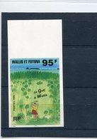 25906  Wallis Futuna, MNH Stamp 95f. IMPERFORATED !!! LE GOLF A WALLIS - Golf