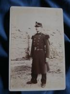Photo Format Cabinet Sans Mention Photographe  Militaire 122° Infanterie  Capote - L378 - Photographs