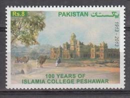 PAKISTAN, 2013,100 Years  Islamia College, Peshawar,,  1v, Rs 8 Stamp, MNH(**) - Pakistan