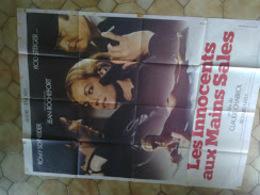 Affiche Cinéma 160 X 120 Les Innocents Aux Mains Sales  Romy Schneider Jean Rochefort (traces De Scotch) - Posters