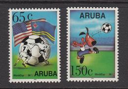 1994 Aruba World Cup Football  Flags Complete Set Of 2  MNH - Curacao, Netherlands Antilles, Aruba