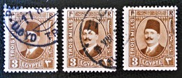 ROYAUME - ROI FOUAD 1ER 1923/24 - OBLITERES - YT 86 - MI 86 - VARIETES D'OBLITERATIONS - Egypt