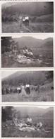 4 MINI-PHOTOS--63----MONT DORE--SANCY--le Pique Nique  1933---voir  2 Scans - Métiers