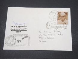 INDE - Enveloppe Expédition Antarctique En 1985 Pour La France , Avec Signature Du Docteur B. Bhattacharya - L 16781 - India