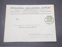 POLOGNE - Enveloppe Commerciale De Poznan Pour La France En 1934 - L 16782 - 1919-1939 Republik