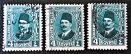 ROYAUME - ROI FOUAD 1ER 1923/24 - OBLITERES - YT 121 - VARIETES D'OBLITERATIONS - Egypt
