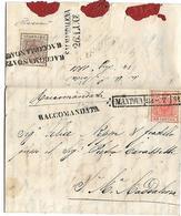Mantova Lombardo Veneto- Raccomandata: Su 30 Cent. Alto Valore Catalogo - Lettera Con Testo Interno Garantita - Lombardy-Venetia