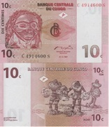 (B0079) DEMOCRATIC REPUBLIC OF THE CONGO, 1997. 10 Centimes. P-82. UNC - Democratic Republic Of The Congo & Zaire