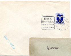 SEINE Et OISE - Dépt N° 78 =  THIVERVAL GRIGNON 1957 = FLAMME DAGUIN '  CHATEAU / FETE ANNUELLE ' - Poststempel (Briefe)