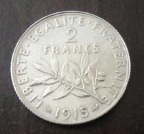 France - Monnaie 2 Francs Semeuse 1915 En Argent - SUP - France