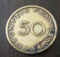Sarre (Saarland) - Monnaie 50 (Fünfzig) Franken 1954 - SUP - Sarre