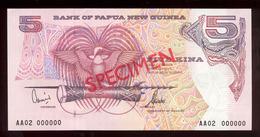 Papua New Guinea 2002 5 Kina SPECIMEN UNC - Papouasie-Nouvelle-Guinée