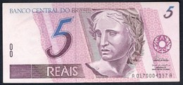 Brazil - 5 Reais 1994 - P244a - Brazil