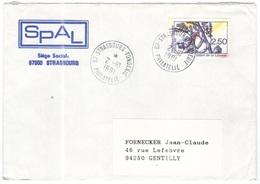 FRANCIA - France - 1991 - 2,50 Arbre De La Liberté - Seul - SPAL - Viaggiata Da Strasbourg Per Gentilly - Francia