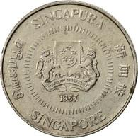 Singapour, 10 Cents, 1987, British Royal Mint, TTB, Copper-nickel, KM:51 - Singapour