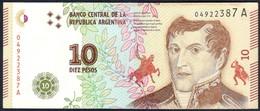 Argentina - 10 Pesos 2016 - P360 - Argentine