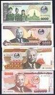 Laos - 1000 Kip 2003 + 5000 Kip 2003 + 20000 Kip 2003 + 50000 Kip 2004 - Laos