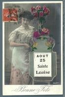 CPA - JEUNE FEMME - SAINTE LOUISE - Felicitaciones (Fiestas)