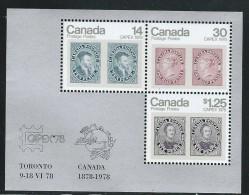 CANADA 1978 SCOTT 756a** SOUVENIR SHEET - 1952-.... Elizabeth II