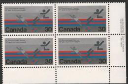 CANADA 1978 SCOTT 758** PLATE BLOCK LR - 1952-.... Elizabeth II