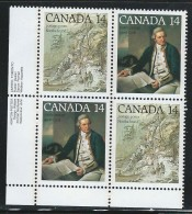 CANADA 1978 SCOTT 763-764** PLATE BLOCK LL - 1952-.... Reign Of Elizabeth II