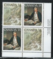 CANADA 1978 SCOTT 763-764** PLATE BLOCK LR - 1952-.... Reign Of Elizabeth II