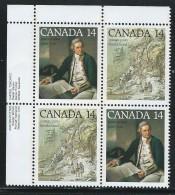CANADA 1978 SCOTT 763-764** PLATE BLOCK UL - 1952-.... Reign Of Elizabeth II