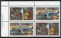 CANADA 1978 SCOTT 765-766** PLATE BLOCK UL - 1952-.... Reign Of Elizabeth II