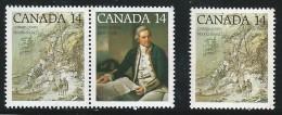 CANADA 1978 SCOTT 763-764** PAIR + SINGLE - Ongebruikt