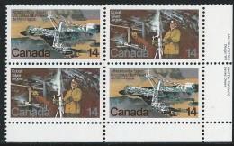 CANADA 1978 SCOTT 765-766** PLATE BLOCK LR - 1952-.... Elizabeth II