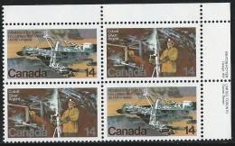 CANADA 1978 SCOTT 765-766** PLATE BLOCK UR - 1952-.... Reign Of Elizabeth II