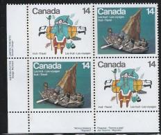 CANADA 1978 SCOTT 769-770** PATE BLOCK LL - 1952-.... Elizabeth II